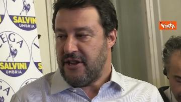 8 - 27-10-19 Salvini e Tesei in conferenza dopo i primi exit poll delle Regionali in Umbria