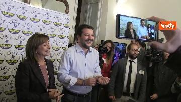 2 - 27-10-19 Salvini e Tesei in conferenza dopo i primi exit poll delle Regionali in Umbria