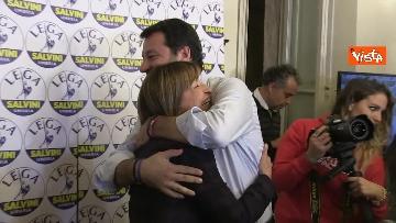 4 - 27-10-19 Salvini e Tesei in conferenza dopo i primi exit poll delle Regionali in Umbria