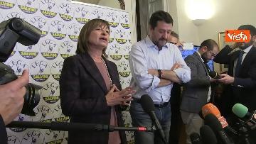 10 - 27-10-19 Salvini e Tesei in conferenza dopo i primi exit poll delle Regionali in Umbria