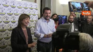 1 - 27-10-19 Salvini e Tesei in conferenza dopo i primi exit poll delle Regionali in Umbria