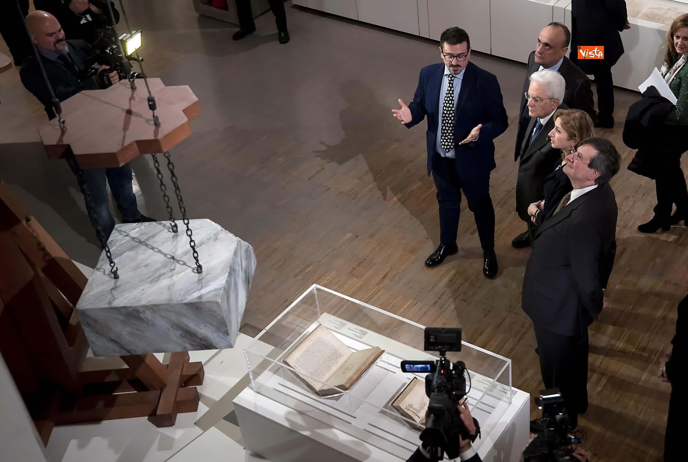 11-03-19 Mattarella a inaugurazione della mostra Leonardo Da Vinci_04. La scienza prima della scienza