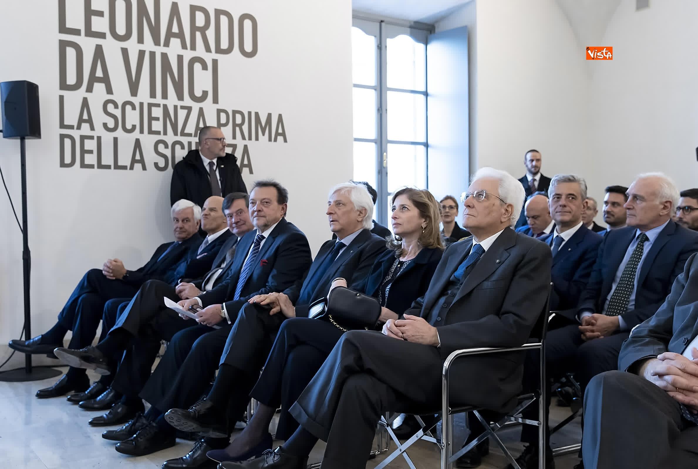 11-03-19 Mattarella a inaugurazione della mostra Leonardo Da Vinci_03. La scienza prima della scienza