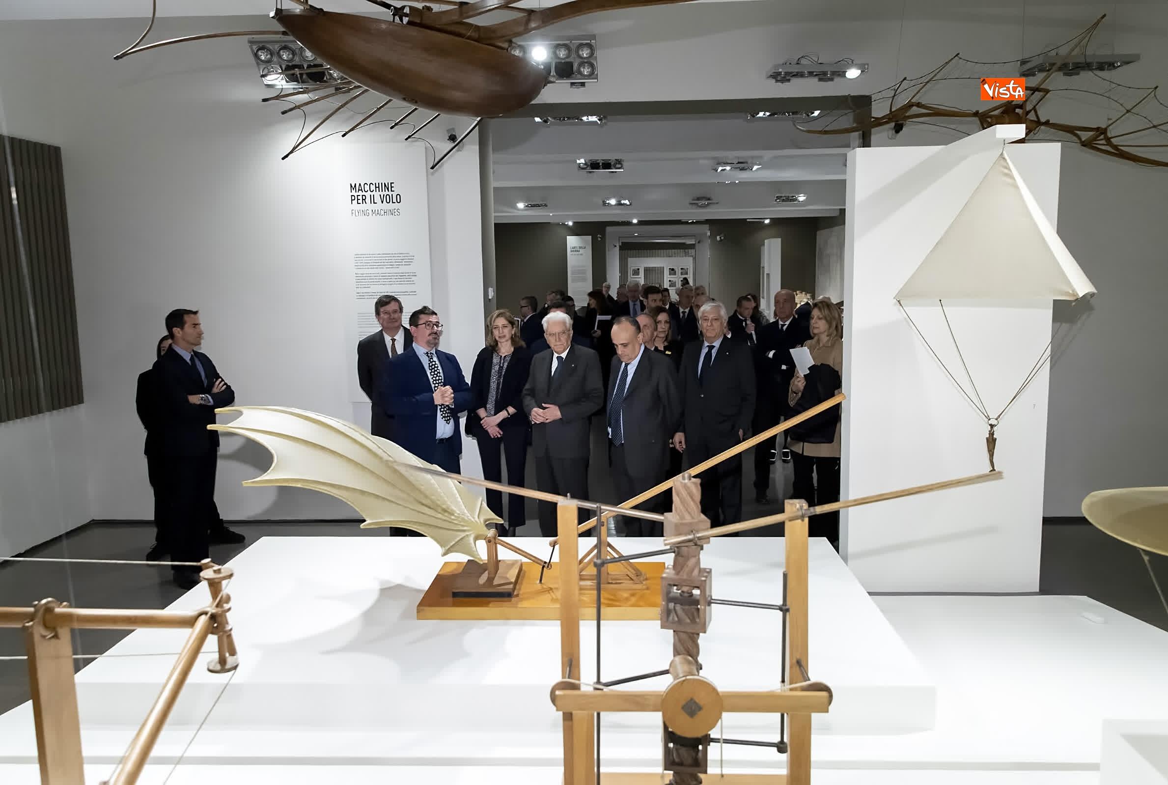 11-03-19 Mattarella a inaugurazione della mostra Leonardo Da Vinci_06. La scienza prima della scienza