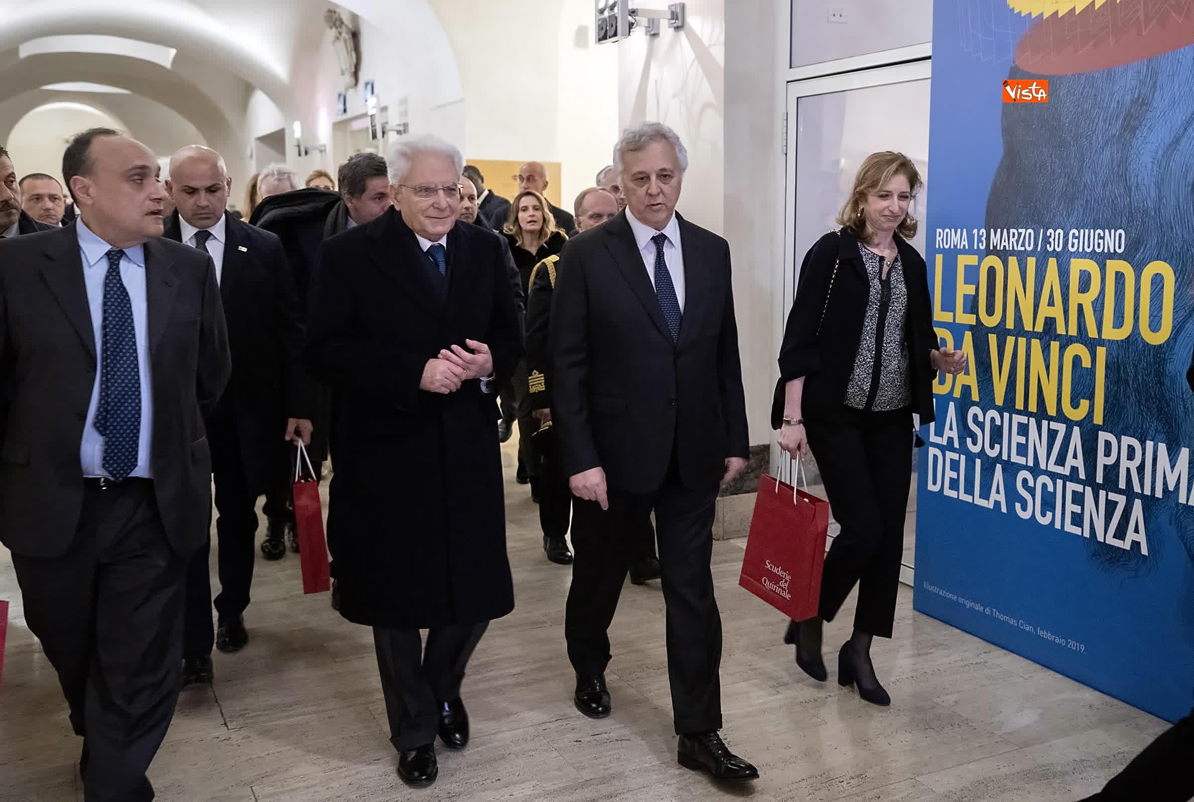 11-03-19 Mattarella a inaugurazione della mostra Leonardo Da Vinci_07. La scienza prima della scienza