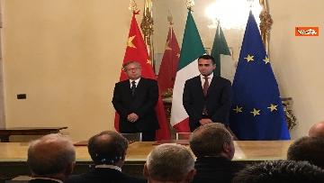4 - Italia-Cina, Di Maio e vicepremier Li Hongzhong alla firma di 6 accordi commerciali