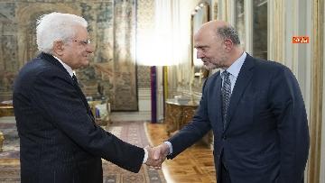 1 - Mattarella incontra il Commissario per gli Affari Economici dell'Ue, Pierre Moscovici