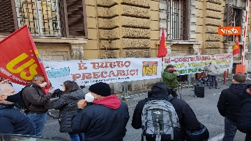 6 - I sindacati di base USB manifestano al Mef, sciopero nazionale di sanità, scuola, trasporti
