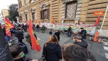 8 - I sindacati di base USB manifestano al Mef, sciopero nazionale di sanità, scuola, trasporti