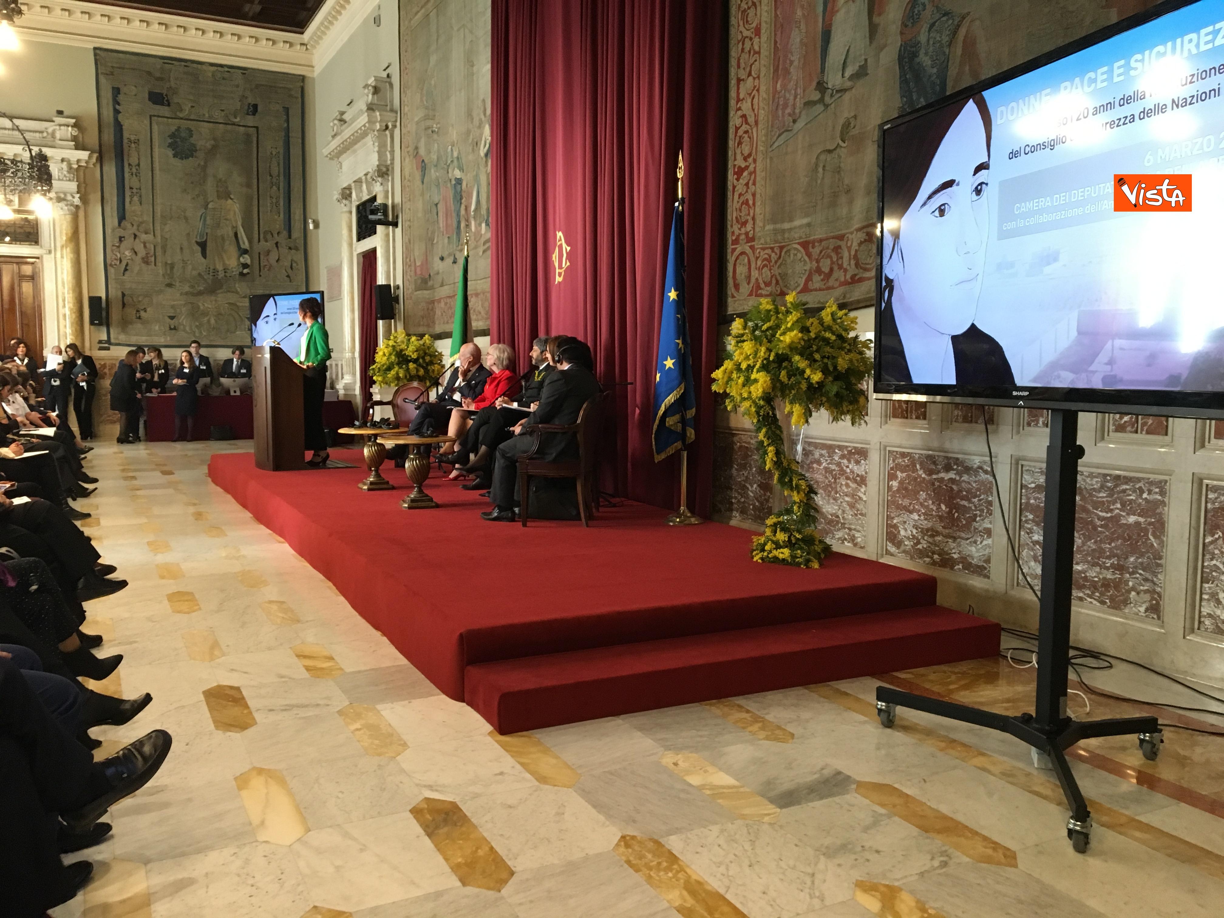 06-03-19 8 marzo a Montecitorio il convgeno Donne pace e sicurezza con il presidente Fico immagini_05
