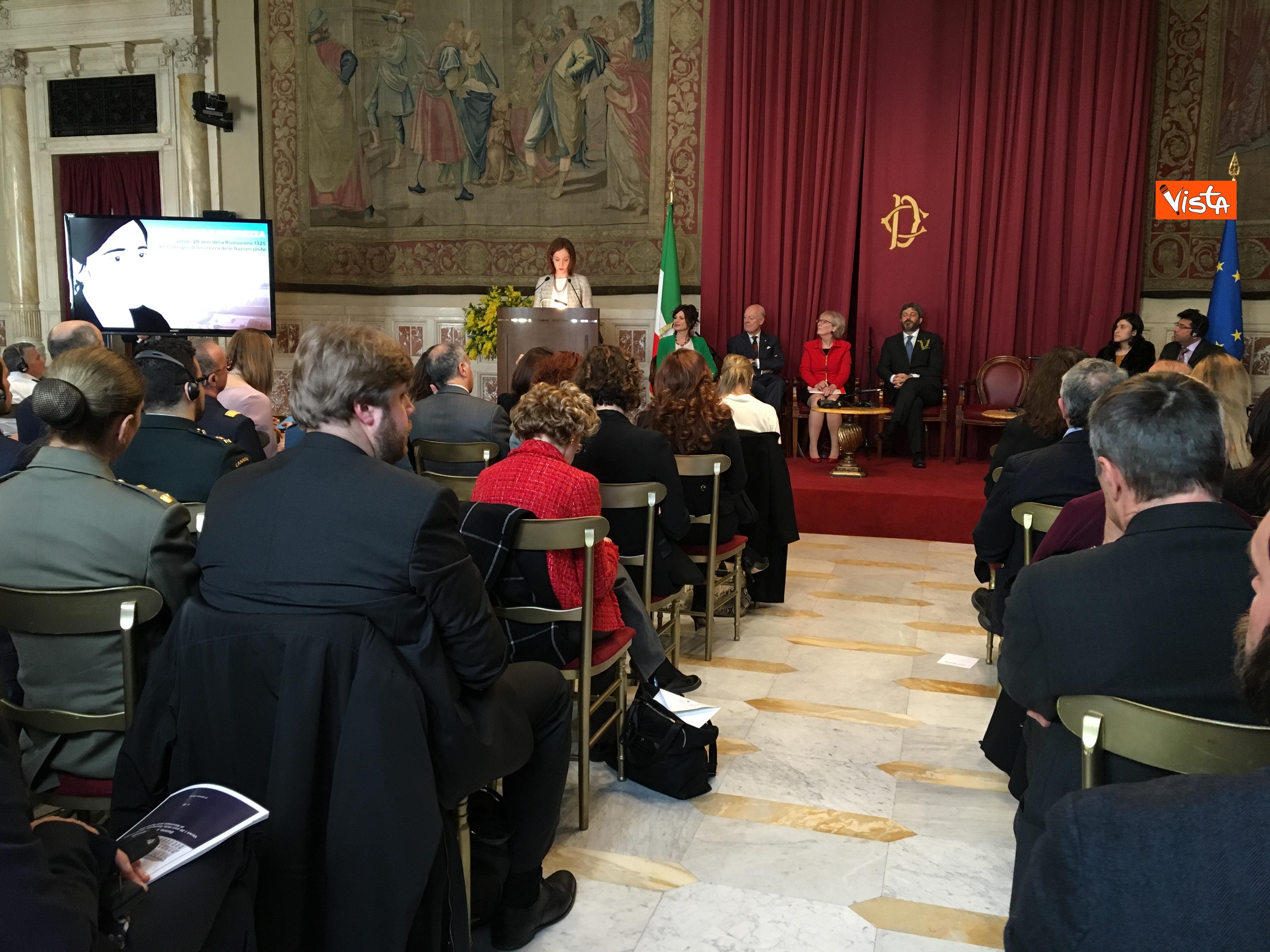 06-03-19 8 marzo a Montecitorio il convgeno Donne pace e sicurezza con il presidente Fico immagini_03
