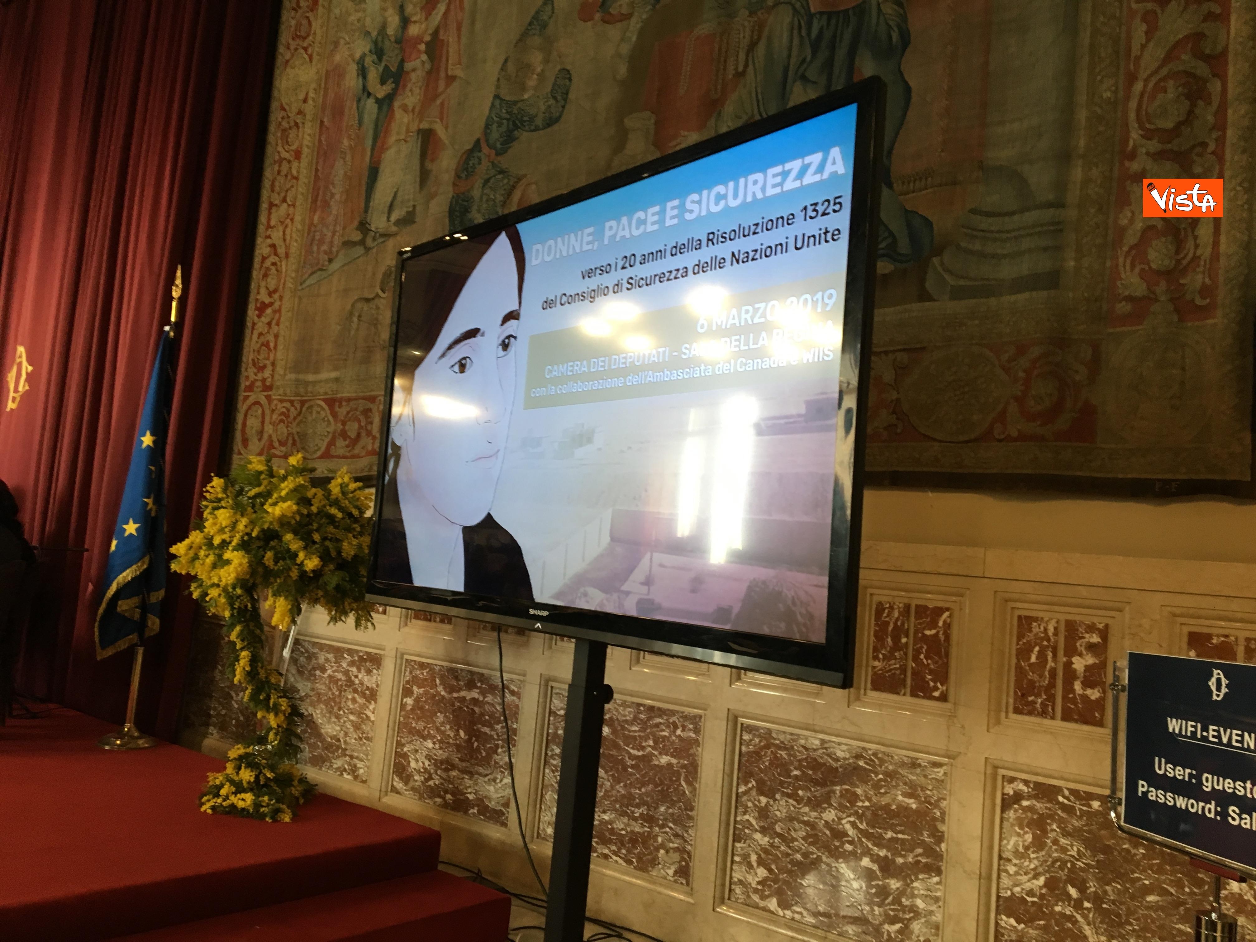 06-03-19 8 marzo a Montecitorio il convgeno Donne pace e sicurezza con il presidente Fico immagini_06