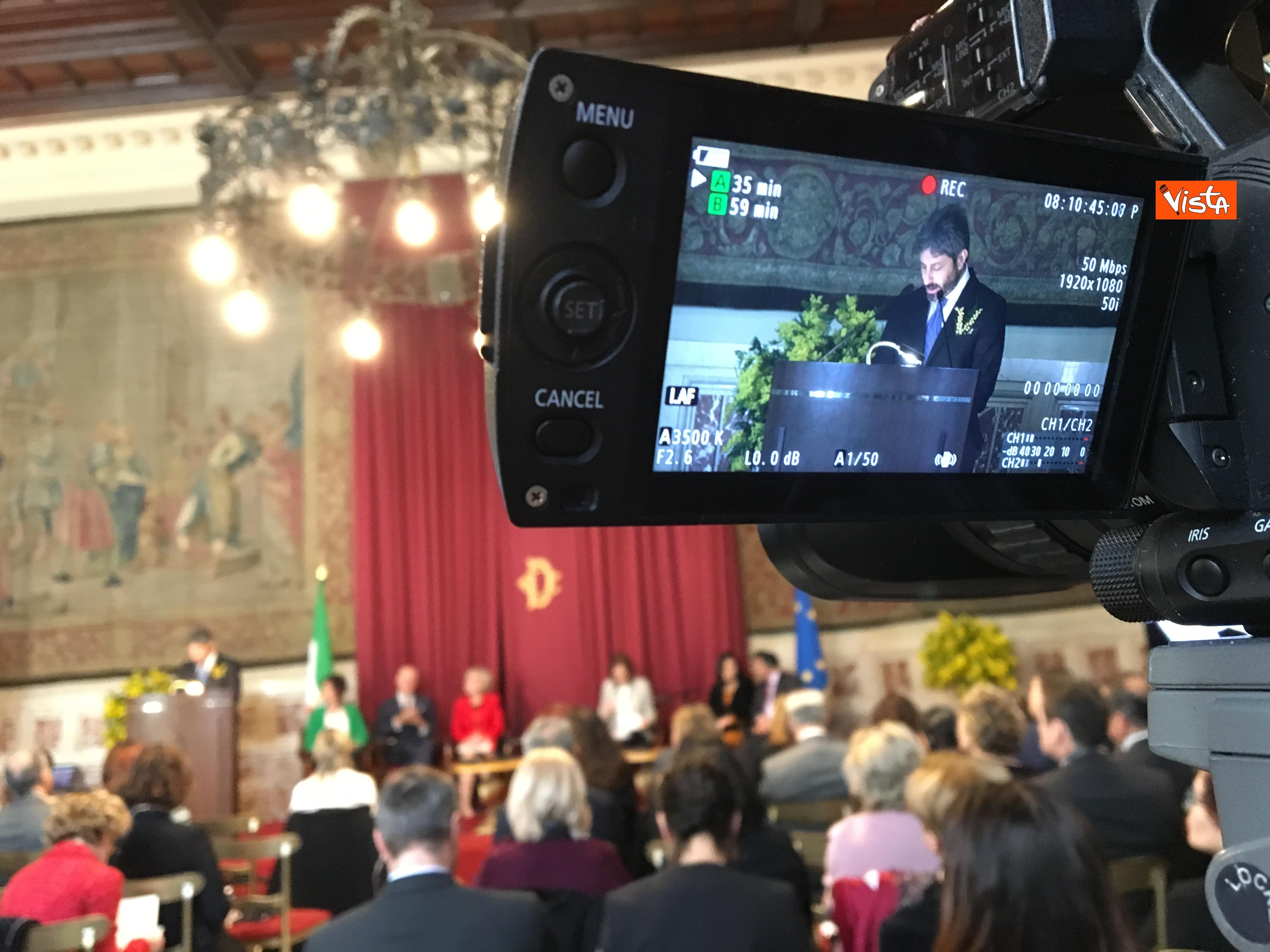 06-03-19 8 marzo a Montecitorio il convgeno Donne pace e sicurezza con il presidente Fico immagini_02