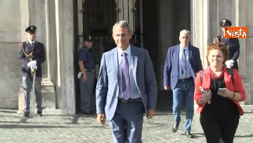4 - Salvini, Costa e Savona lasciano Palazzo Chigi dopo il Consiglio dei Ministri