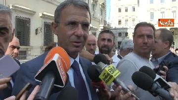 5 - Salvini, Costa e Savona lasciano Palazzo Chigi dopo il Consiglio dei Ministri