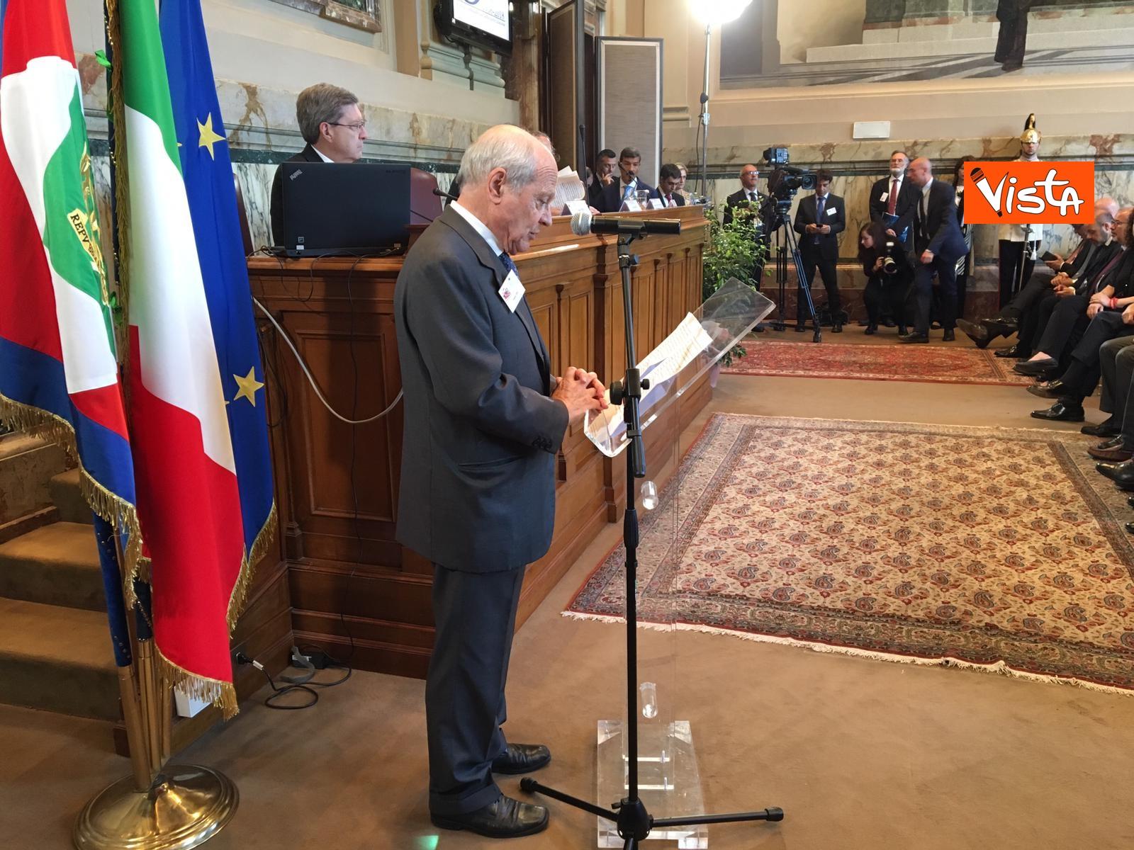 13-06-19 Mattarella a riunione Cnel europei a Roma_Il presidente del Cnel Tiziano Treu_02