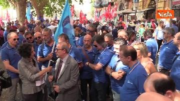3 - Protesta dei sindacati davanti al Ministero dei Trasporti, le immagini