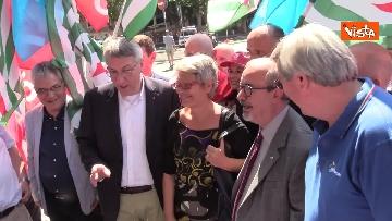 7 - Protesta dei sindacati davanti al Ministero dei Trasporti, le immagini