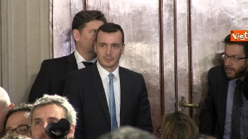 1 - M5S Di Maio, Toninelli e Giulia Grillo dopo l'incontro con Mattarella immagini