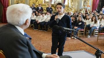 1 - Mattarella al Quirinale incontra alcune scolaresche delle scuole primarie