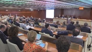 """1 - Boccia interviene alla conferenza su """"Politica e Economia"""" a Confindustria, le immagini"""