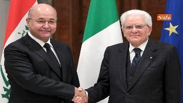 3 - Mattarella incontra il Presidente dell'Iraq Salih