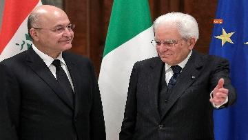 2 - Mattarella incontra il Presidente dell'Iraq Salih