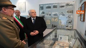 5 - Mattarella visita il museo del Sacrario Militare al 75esimo anniversario della battaglia di Monte Lungo