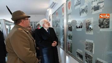 4 - Mattarella visita il museo del Sacrario Militare al 75esimo anniversario della battaglia di Monte Lungo