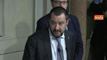9 - Salvini al Quirinale per le Consultazioni insieme a Giorgetti e Centinaio