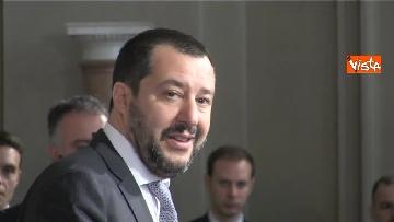 3 - Salvini al Quirinale per le Consultazioni insieme a Giorgetti e Centinaio