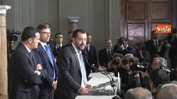 6 - Salvini al Quirinale per le Consultazioni insieme a Giorgetti e Centinaio
