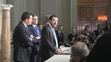 2 - Salvini al Quirinale per le Consultazioni insieme a Giorgetti e Centinaio