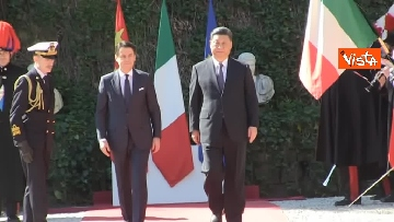 12 - Italia-Cina, Conte accoglie Xi Jinping a Villa Madama