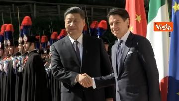 16 - Italia-Cina, Conte accoglie Xi Jinping a Villa Madama
