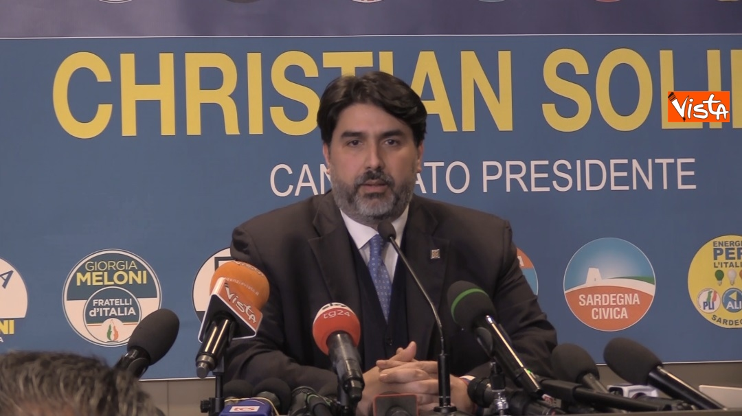 Il neo presidente della Regione Sardegna Christian Solinas