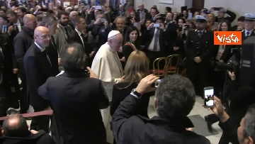 10 - Papa Francesco in Campidoglio, l'intervento in Aula Giulio Cesare