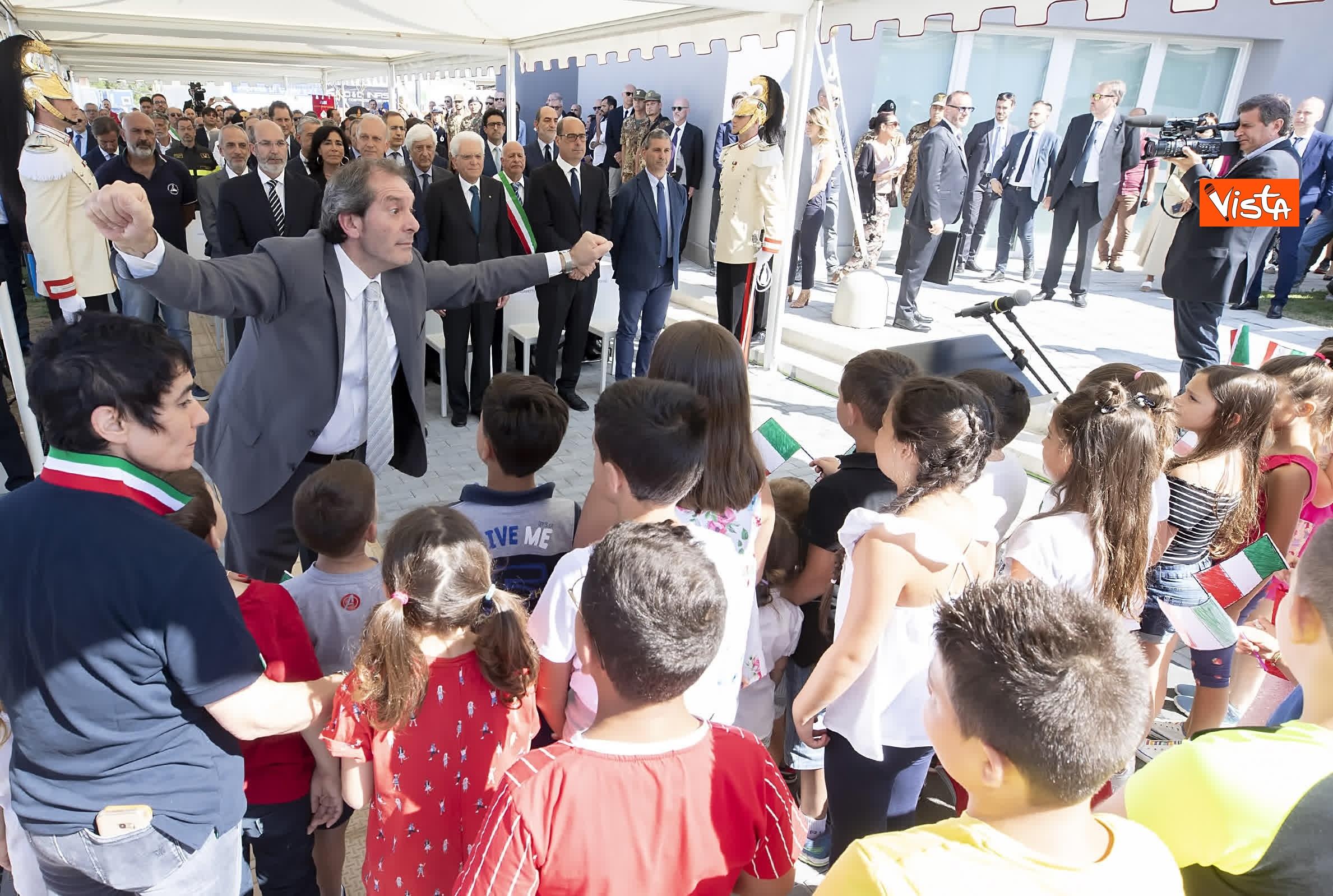 18-07-19 Il Presidente Mattarella visita l'Istituto omnicomprensivo Romolo Capranica di Amatrice_05