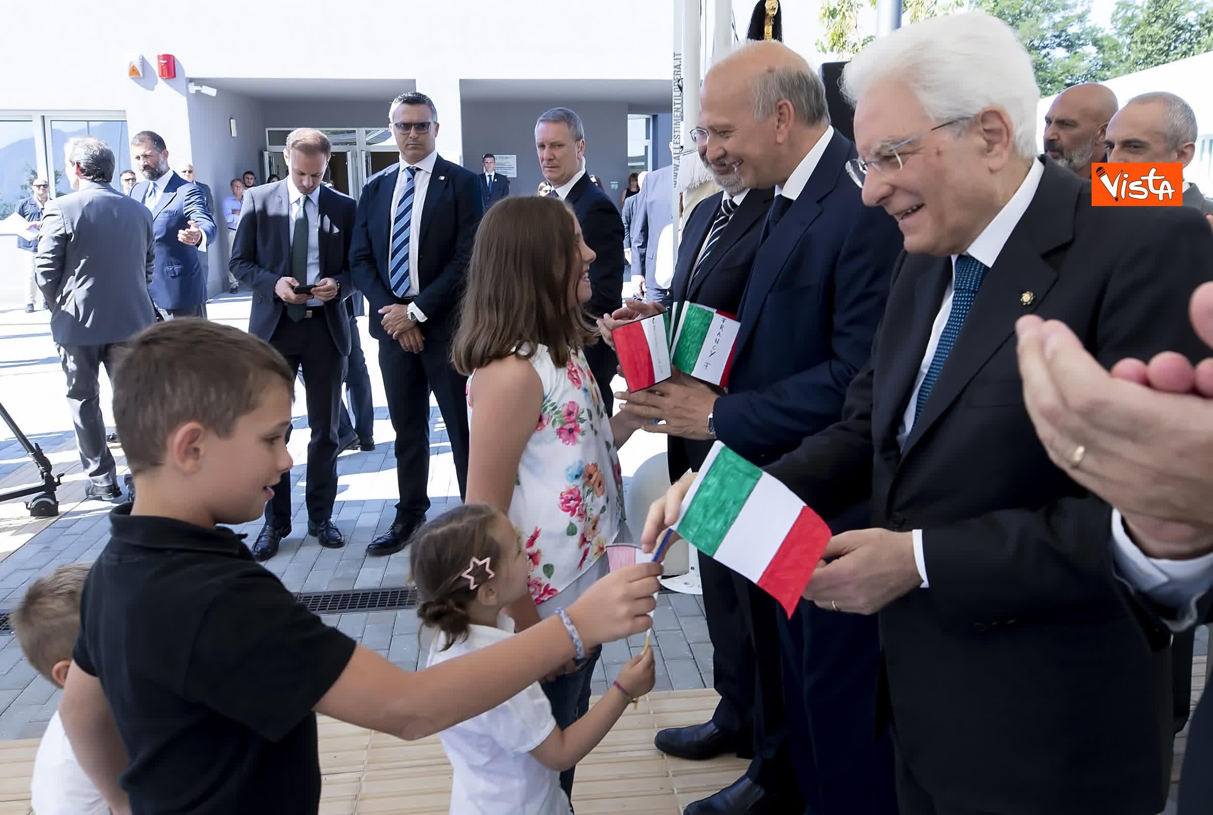 18-07-19 Il Presidente Mattarella visita l'Istituto omnicomprensivo Romolo Capranica di Amatrice_06