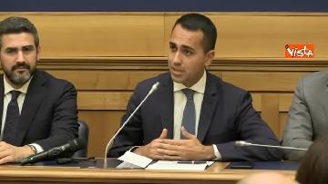 2 - Di Maio e Fraccaro in conferenza stampa a Montecitorio su riforme costituzionali