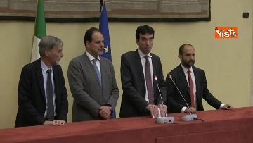 9 - Martina, Delrio, Orfini e Marcucci alle Consultazioni con il presidente della Camera Fico
