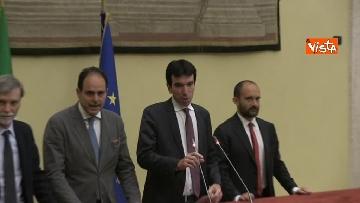 5 - Martina, Delrio, Orfini e Marcucci alle Consultazioni con il presidente della Camera Fico