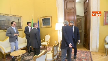14 - Martina, Delrio, Orfini e Marcucci alle Consultazioni con il presidente della Camera Fico