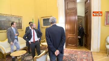 12 - Martina, Delrio, Orfini e Marcucci alle Consultazioni con il presidente della Camera Fico