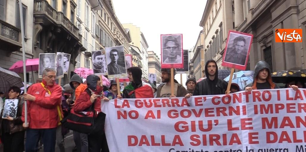 La manifestazione del 25 Aprile a Milano