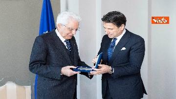 1 - Mattarella e Conte all'inaugurazione della sede unitaria dell'Intelligence