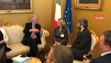 1 - Negoziatore Ue per Brexit, Barnier, incontra Fico e viene ascoltato in Commissione Esteri