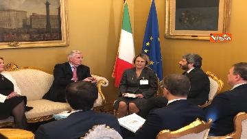 6 - Negoziatore Ue per Brexit, Barnier, incontra Fico e viene ascoltato in Commissione Esteri