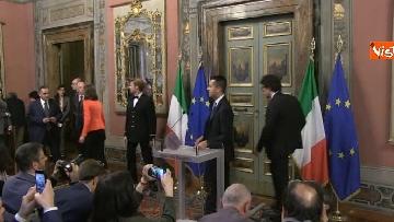1 - Di Maio, Giulia Grillo e Toninelli al termine delle Consultazioni al Senato