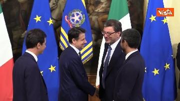 1 - La cerimonia della campanella del Presidente del Consiglio Giuseppe Conte